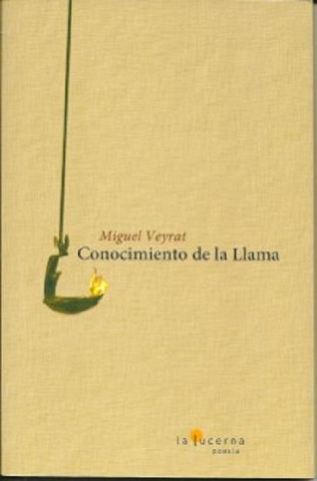 """Portada del poemario """"Conocimiento de la llama"""", de Miguel Veyrat"""