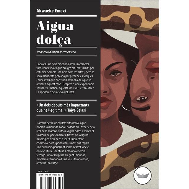 Portada de la novel·la d'Akwaeke Emezi, Aigua dolça.
