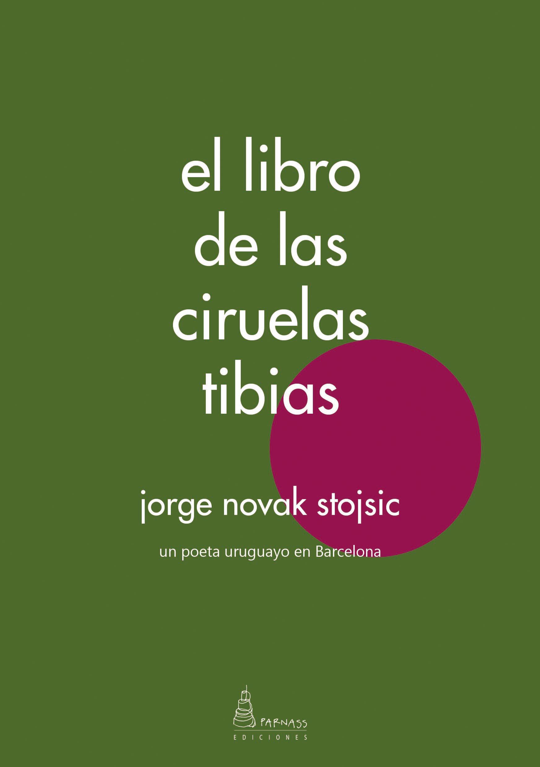 Portada del poemario de Jorge Novak, «el libro de las ciruelas tibias»