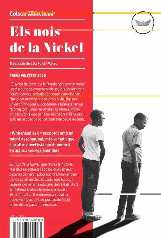 Portada de la novel·la «Els nois de la Nickel», de Colson Whitehead