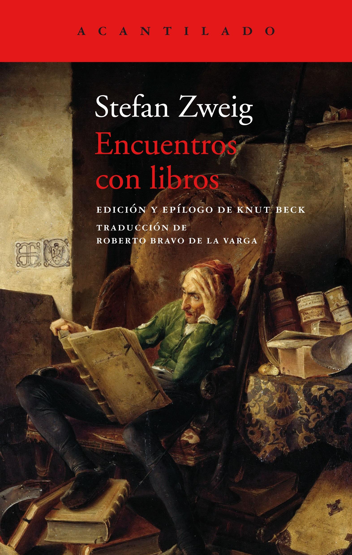"""Portada de """"Encuentros con libros"""", de Stefan Zweig"""