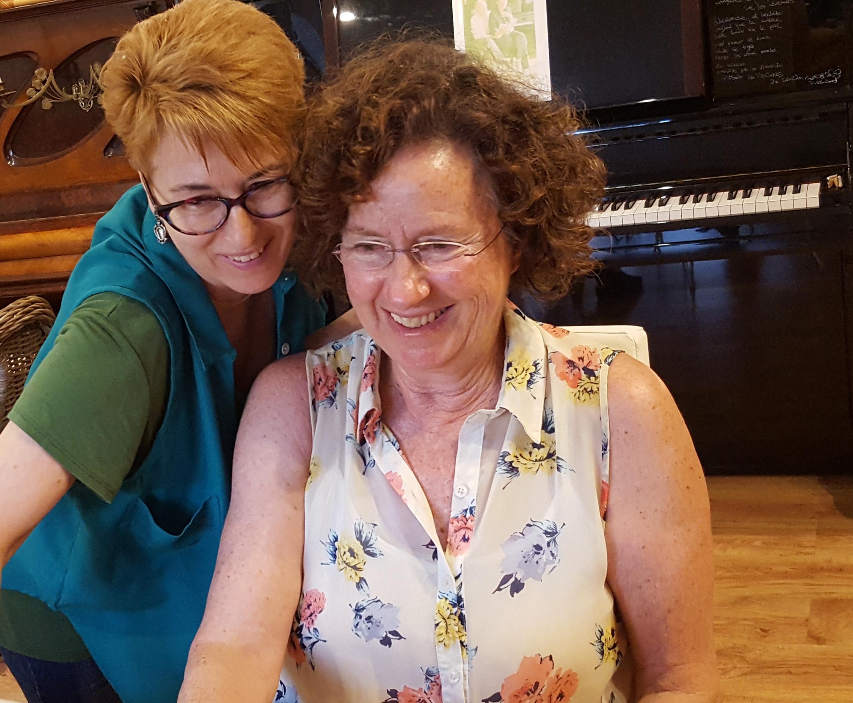 Cise Cortés i Mercedes Delclós
