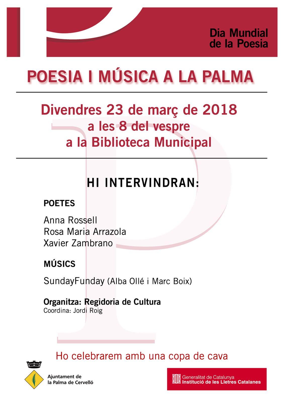 Cartell del recital poètic 23-03-2018