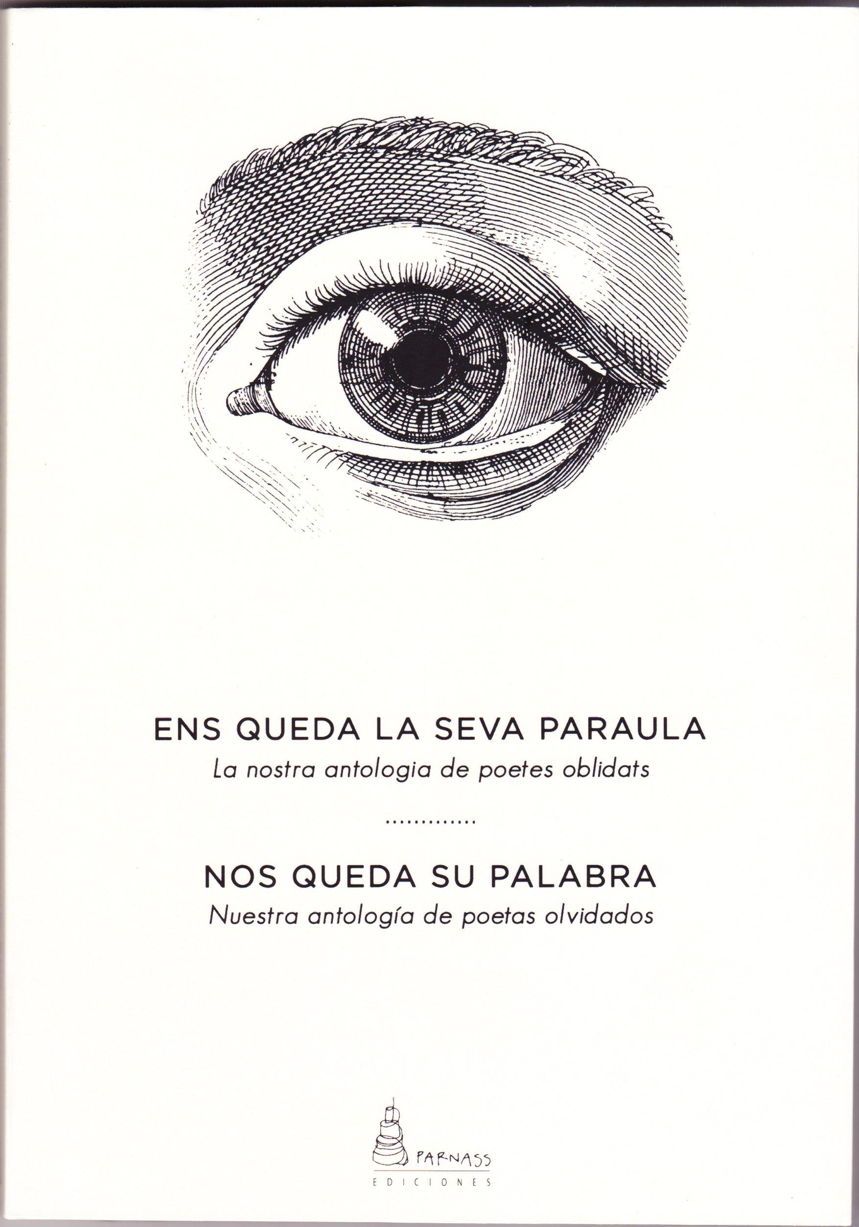 """Portada de l'antologia / Portada de la antología """"Ens queda la seva paraula / Nos queda su palabra"""""""