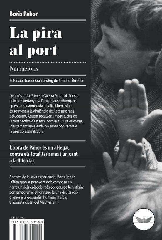 """Portada del llibre de relats """"La pira al port"""", de Boris Pahor"""
