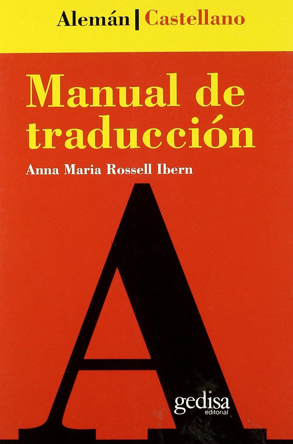 Portada del libro «Manual de traducción (alemán-castellano), de la escritora y filóloga alemana Anna Rossell