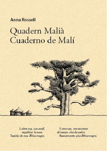 """Poemario de Anna Rossell """"Quadern malià / Cuaderno de Malí"""" (edición bilingüe, soporte papel)"""