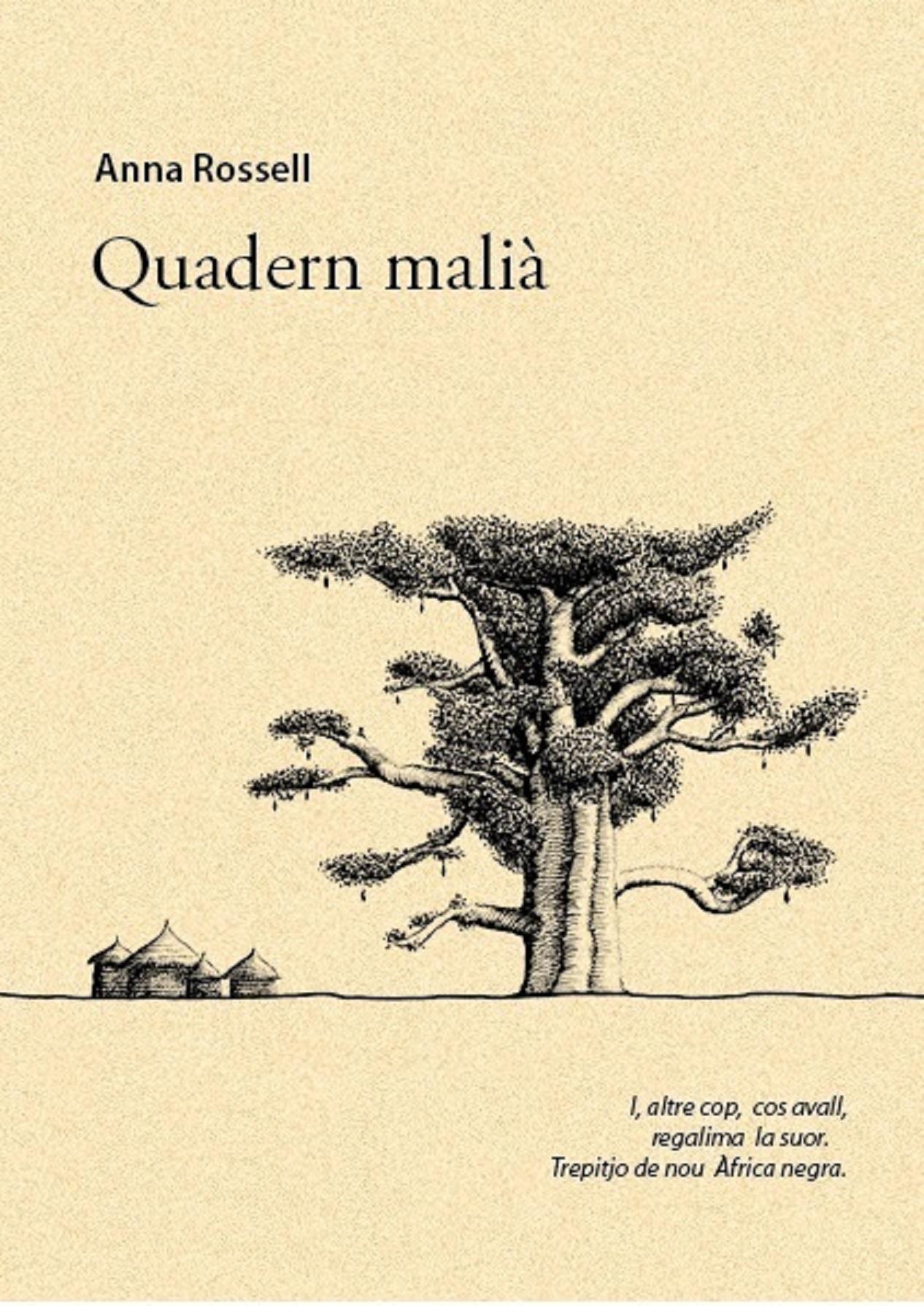 "Portada del poemari d'Anna Rossell, ""Quadern malià"" (e-pub)"