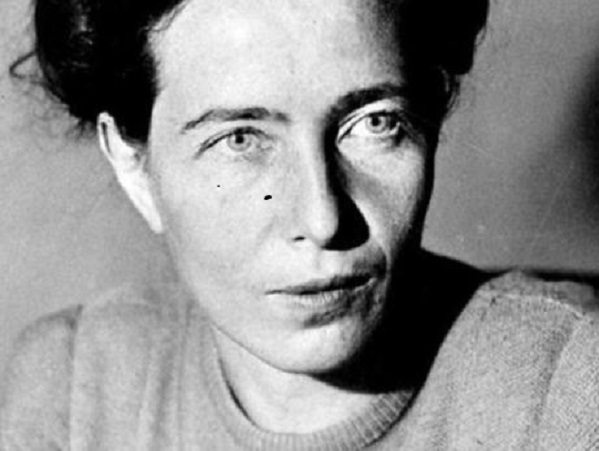 La escritora y filósofa francesa Simone de Beauvoir