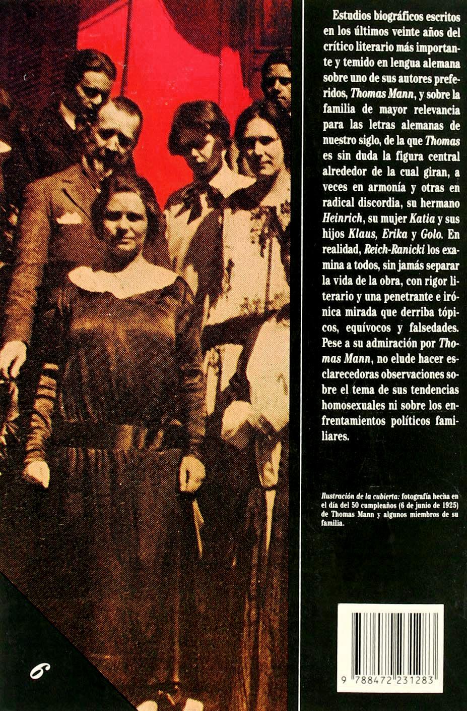 """Contraportada del libro """"Thomas Mann y los suyos"""""""