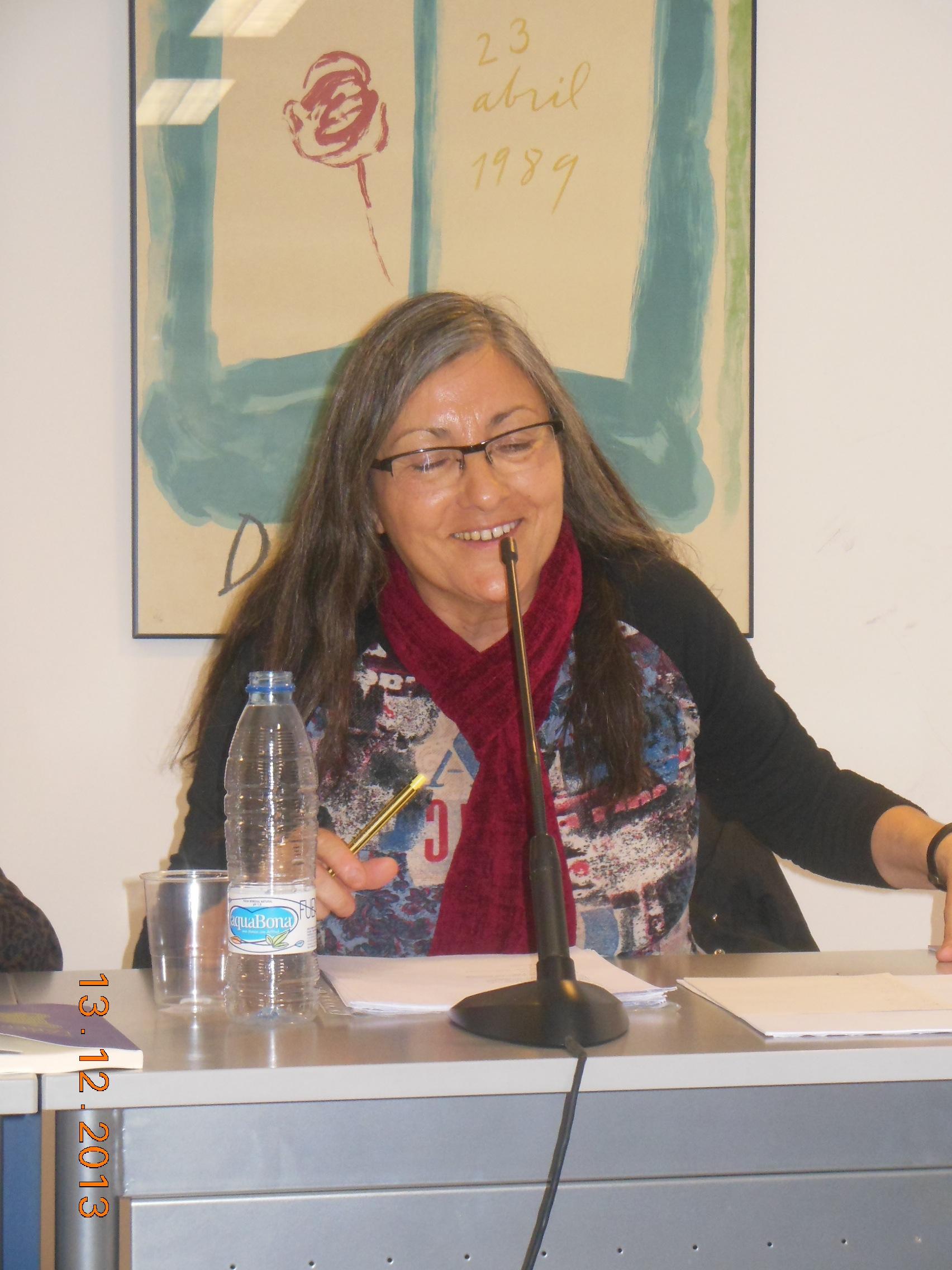 Anna Rossell. Tertulia del Laberinto de Ariadna, Ateneo Barcelonés, 2013