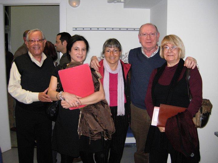 Anna Rossell con amigos/as poetas, Tertulia El Laberinto de Ariadna (Ateneo Barcelonés, 2010)