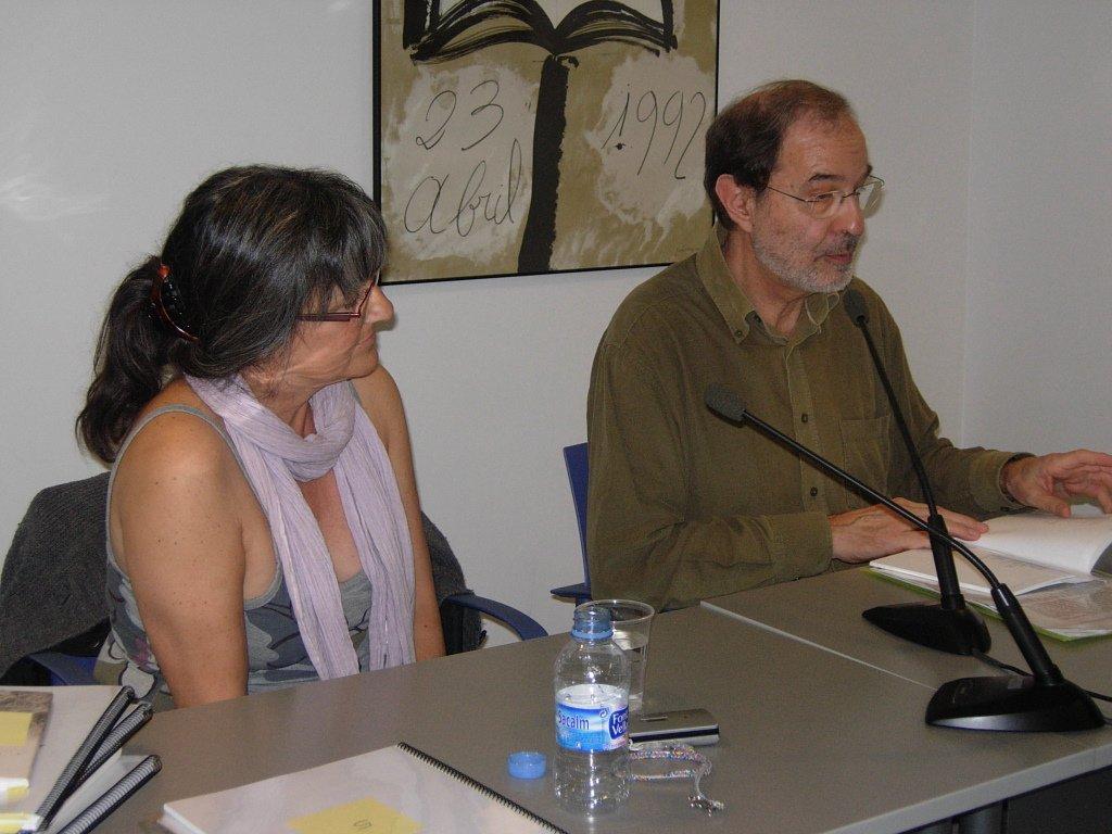 Anna Rossell con Josep Anton Soldevila, Tertulia El Laberinto de Ariadna (Ateneo Barcelonés, 2010)
