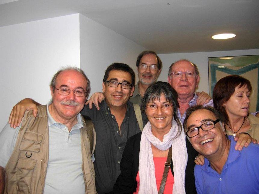 Anna Rossell con amigos/as poetas Tertulia del Laberinto de Ariadna (Ateneo Barcelonés, 2011)