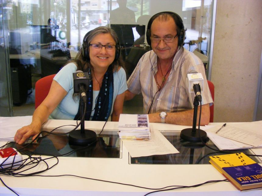 Anna Rossell con Josep Zepol-Zinc. Entrevista en Radio Castelldefels, 2014