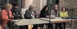 De izquierda a derecha: Rosa Toran, Víctor Sörenssen, Vicenç Villatoro, Anna Rossell, Alfonso Levy y Amàlia Sanchís