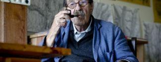 Günter Grass, zu Hause in Dänemark, auf der Insel Mön, Günter Grass a casa seva, a la illa danesa de Mön /Günter Grass en su casa, en la isla danesa de Mön