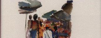 """Portada del libro """"Mi viaje a Togo"""", de Anna Rossell (con ilustraciones de Pilar Millán)"""